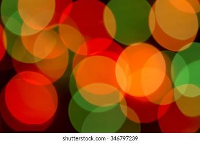 Coloured bokeh Christmas tree garlands (Christmas lights)