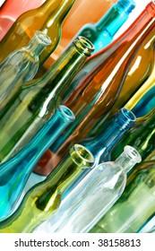 Coloured creative bottle. . Color bottels