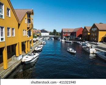 Coloured houses of Kristiansand, Norway