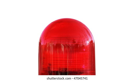 Coloured Led Strobe Rotating Police Car Stock Photo (Edit