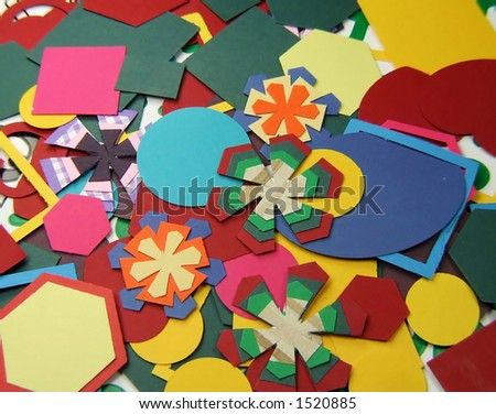 Coloured Shapes Cut Shape Cutter Coloured Stock Photo Edit Now