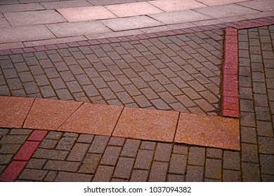 Coloured slabs and bricks