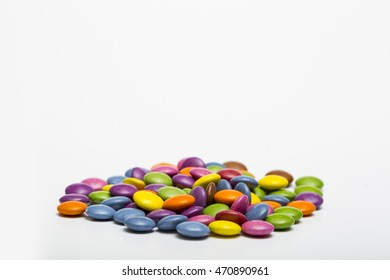 Coloured smarties sweets