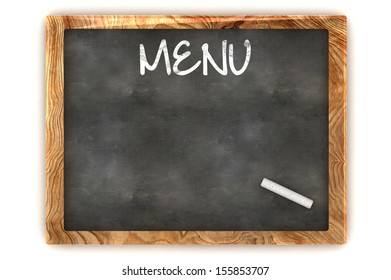 A Colourful 3d Rendered Blank Menu Concept Illustration