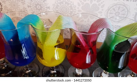 colourful absorption  experiment with tissue