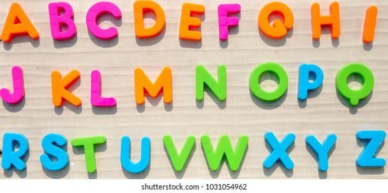 colourful alphabet A-Z