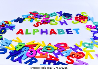colourful alphabets words