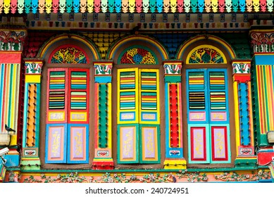 Colourful Architecture of Little India, Singapore