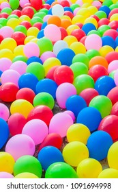Colourful of balloon for background.