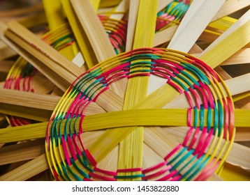 Colourful bamboo made stylish showpiece object photo