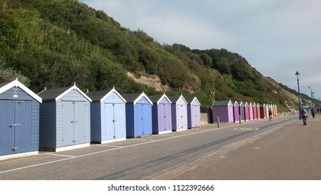 Colourful Beach Huts along Bournemouth front
