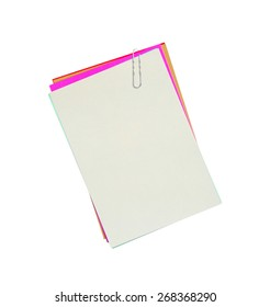 colourful blank notes isolated