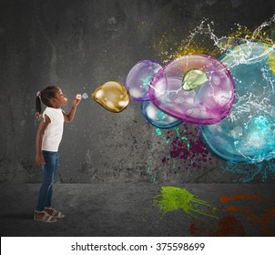 Colourful bubble