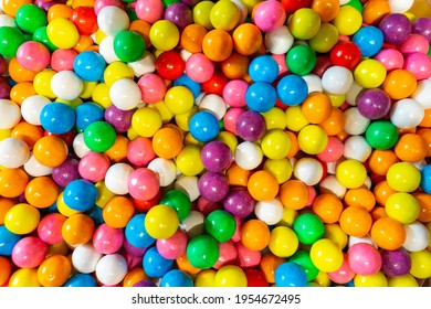 Colourful Candy Balls Texture, Background