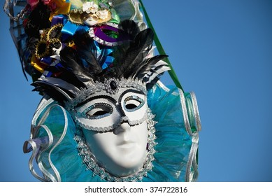 Colourful carnival mask