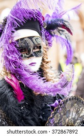 Colourful carnival mask in Venice, Italy