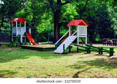 A colourful children playground equipment