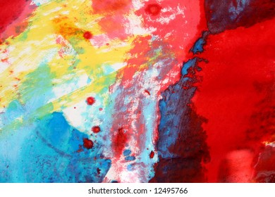 Colourful children's painting, good as a background
