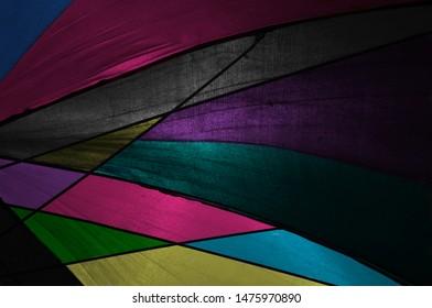 Colourful clothes of a traditional umbrella unique photo