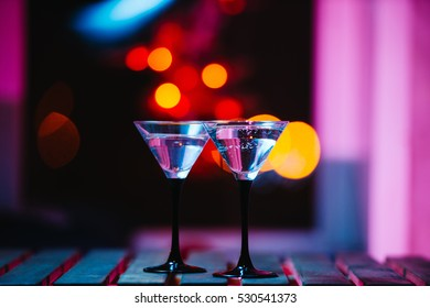 colourful cocktail with splashes