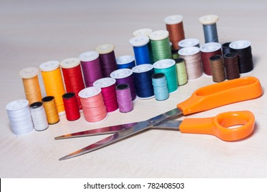 Colourful collection of sewing accessories