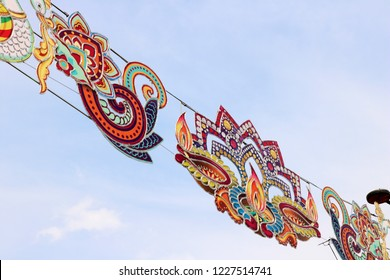 Colourful decoration for the Hindu Festival of Lights Diwali (or Deepavali) in Singapore 2018