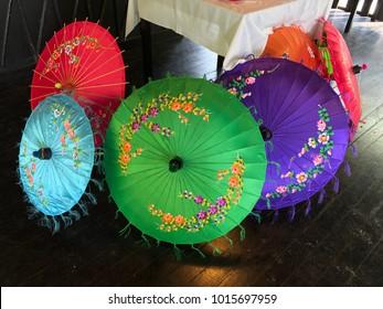 Colourful decoration umbrella
