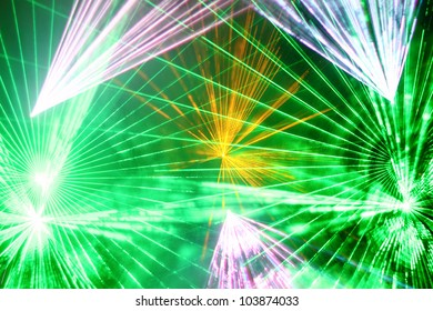 Colourful Disco with special effects and fantastic laser show