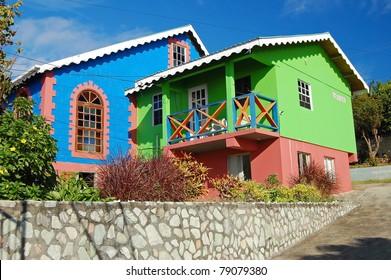 Colourful exotic church on Union Island