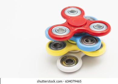Colourful fidget finger spinner stress, anxiety relief toy