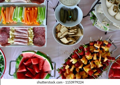 Colourful foods in the table