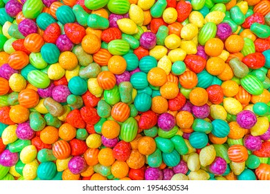 Colourful Fruit Candy Texture Background