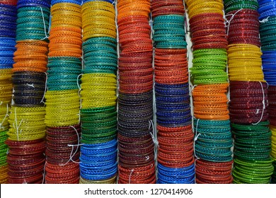 colourful Glass bangles or Churiya are worn by Indian or Pakistani girl, women as part of their beautification. it is also worn during wedding.