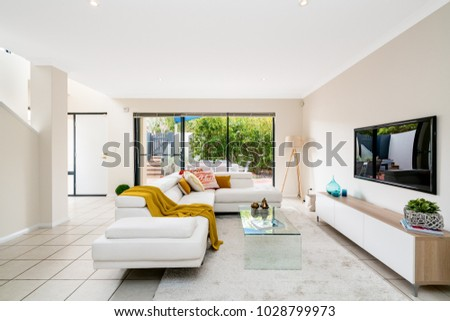 Colourful Home Interior Modern Furniture Decor Stock Photo Edit Now