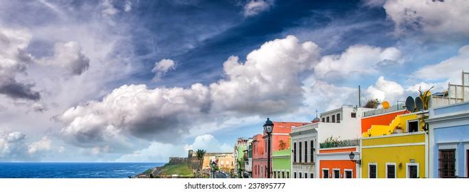Colourful homes of San Juan, Puerto Rico.