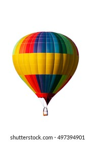 Colourful hot-air balloon isolated on the white