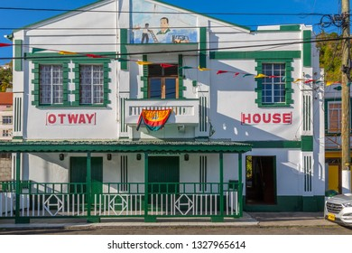 Colourful house on the Carnarge of St George's, Grenada, Windward Islands, West Indies, Caribbean, Central America 2 February 2019