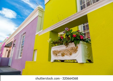 Colourful houses in Bo Kaap area, Cape town, South Africa