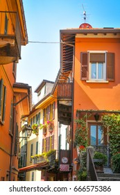 Colourful houses in Lombardy, Italy