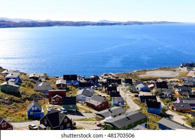 Colourful houses, Qaqortoq, Greenland, Europe