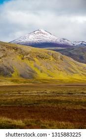 Colourful Icelandic landscape