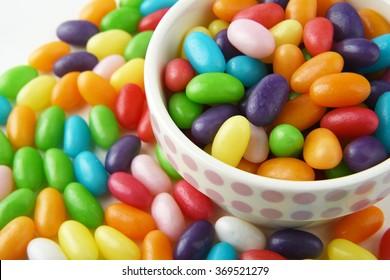 colourful jelly bean