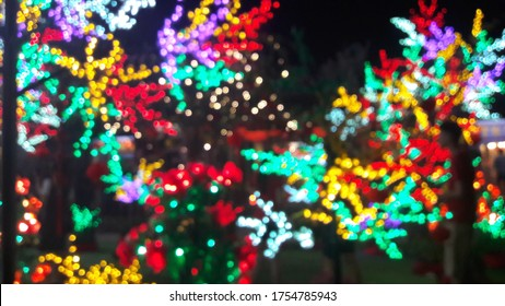 Colourful LED bokeh to light up the Chinese New Year in Klang Kwan Imm Temple