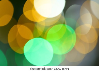 Colourful light bokeh blurry background- abstarct image