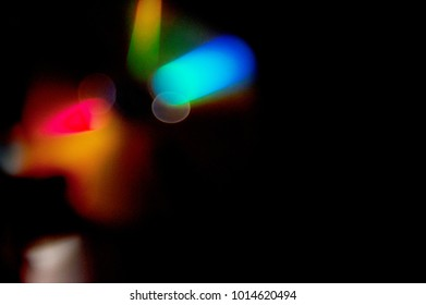 Colourful Light Bokeh Flare Textures  Abtract Background