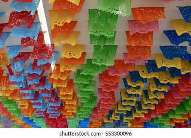 Colourful Paper Flags in Mexico