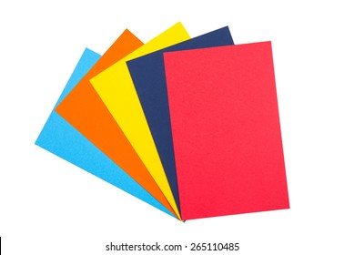 Colourful Paper isolated on white