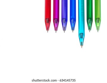 Colourful Pen, isolated on white