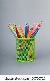 Colourful pencils on the background