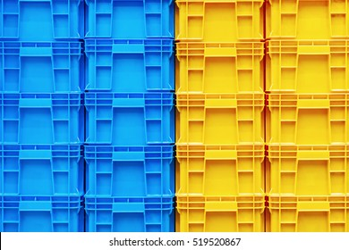 Colourful Plastic container box Stack Storage Logistic business